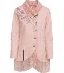giacca in maglina con collo grande (rosa) - rainbow