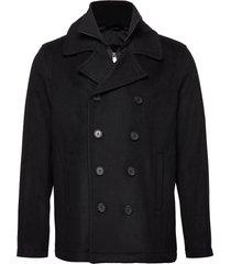 peacoat wollen jas lange jas zwart lindbergh