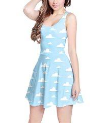 pixar clouds sleeveless dress