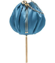 rosantica fatale tassel pouch mini bag - blue