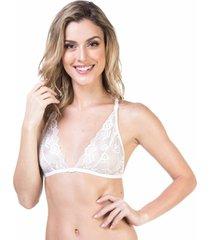 sutiã renda lenço branco marcyn - 541.012 marcyn lingerie triângulo branco