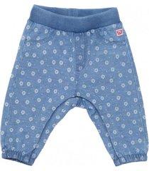jeans joggs estampado margaritas azul piedra  pillin