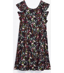 loft garden ruffle swing dress