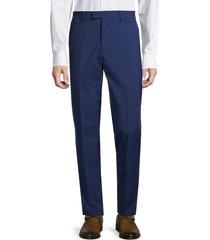 nhp men's plaid dress suit separates trousers - navy - size 38