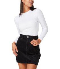 cotton on woven havana cord mini skirt