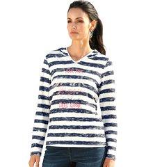 sweatshirt amy vermont wit::marine