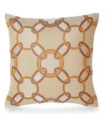 chains cushion - camel