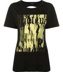 ann demeulemeester fine cut-out t-shirt - black