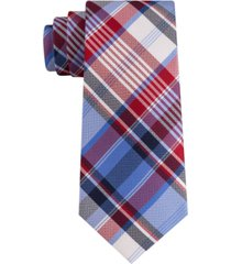 tommy hilfiger men's skinny madras plaid tie