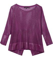 blusa rosa chá kelly i tricot roxo feminina (grape juice, gg)