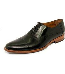 zapato negro pato pampa vestir perforado