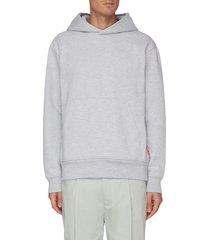 pink label cotton blend hoodie