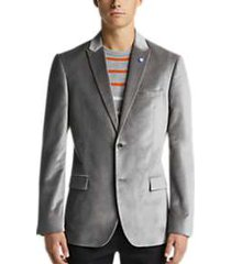 ben sherman light gray velvet dinner jacket