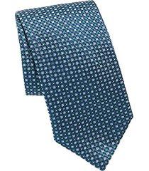 dot game print silk tie