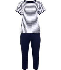 pyjama's / nachthemden lisca homewear pyjama t-shirt en broek francis witte