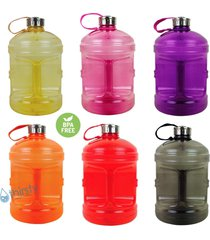 bpa free 1 gallon water bottle steel cap drinking canteen jug container 128 oz