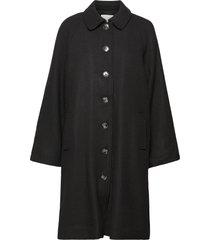 payton coat wollen jas lange jas zwart storm & marie