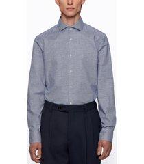 boss men's houndstooth slim-fit shirt