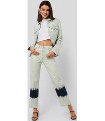 na-kd jeans med hög midja - blue