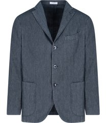 jeans single-breasted blazer
