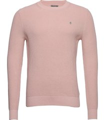cardew ck stickad tröja m. rund krage rosa morris