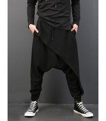 incerun hombres casual suelto drapeado gota entrepierna estilo gótico punk harem hip-hop pantalones