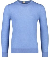 olymp pullover level 5 ronde hals hemelsblauw