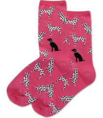 hot sox women's dalmatians crew socks