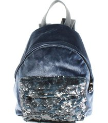 mochila terciopelo lentejuelas gris mailea