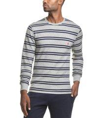 men's striped waffle-knit pajama shirt