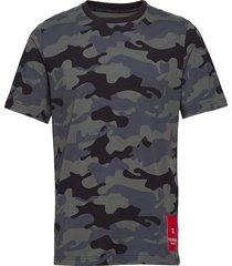 short sleeve t-shirt t-shirts short-sleeved grå calvin klein performance