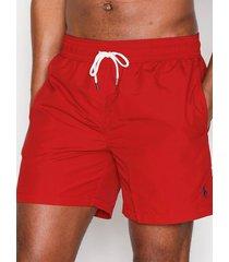 polo ralph lauren traveler swim shorts badkläder red