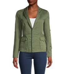 zadig & voltaire women's virginia cotton jacket - khaki - size xs