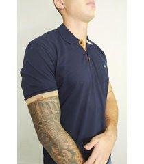 camiseta polo azul oscuro - d3004
