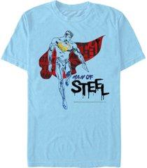 fifth sun dc men's superman man of steel short sleeve t-shirt