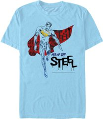 fifth sun dc men's superman man of steel short sleeve t-shirt