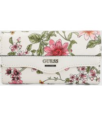 billetera blanco-multicolor guess