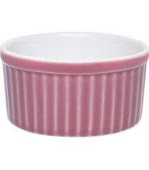 conjunto de 6 tigelas ramequin 180ml ramequin branco/rosa - multicolorido - dafiti