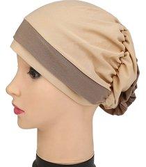donne sottili cappello musulmano in microfibra traspirante beanie musulmana indiana con cappello da turbante indiana