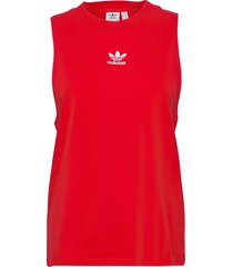 adicolor classics loose tank top w t-shirts & tops sleeveless röd adidas originals