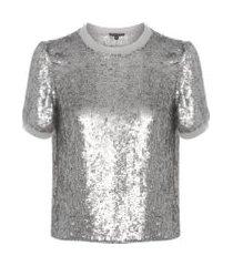 camiseta feminina juju - prata
