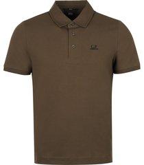 c.p. company logo cotton-piqué polo shirt