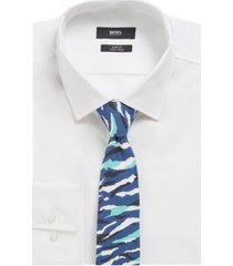 boss men's printed tie