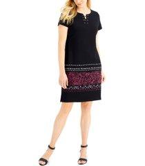 karen scott border-hem lace-up dress, created for macy's