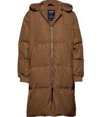 patsy jacket gevoerde lange jas bruin svea