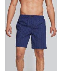 bermuda pijama interior rayas azul s