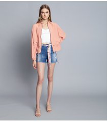 shorts jeans com elastano jeans - lez a lez