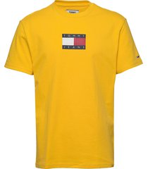 tjm small flag tee t-shirts short-sleeved gul tommy jeans