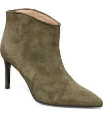 aeja suede shoes boots ankle boots ankle boots with heel grön custommade