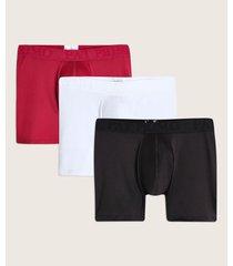 pantaloncillo boxer medio para hombre x3 unds
